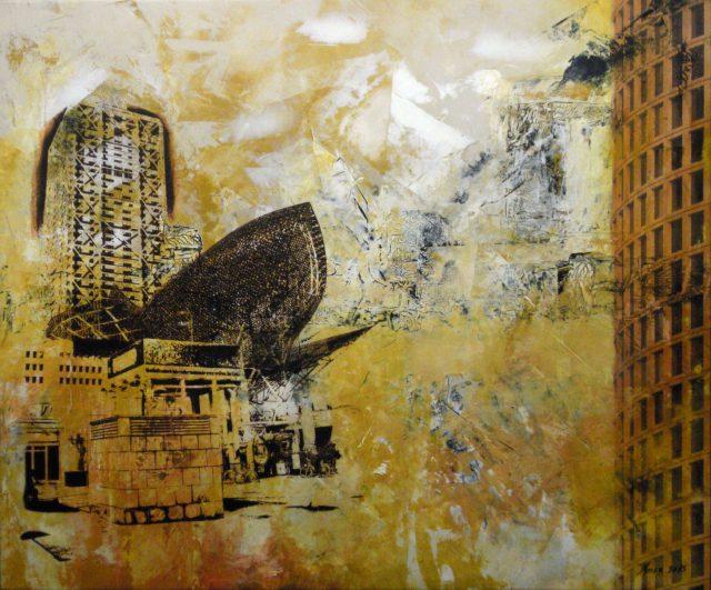 Acrylique et transfert sur toile - 100x120cm