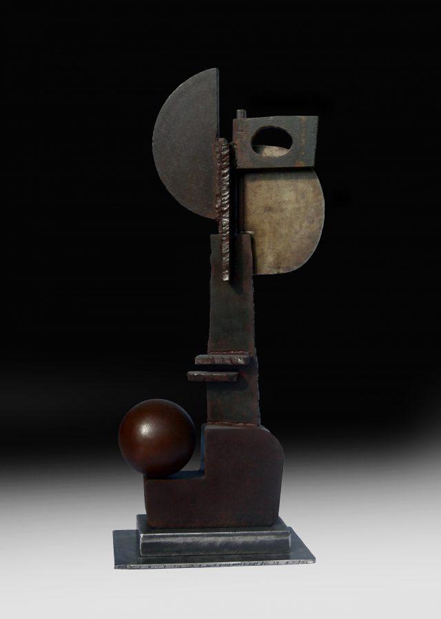 Tête - Sculpture en acier - 64x25cm