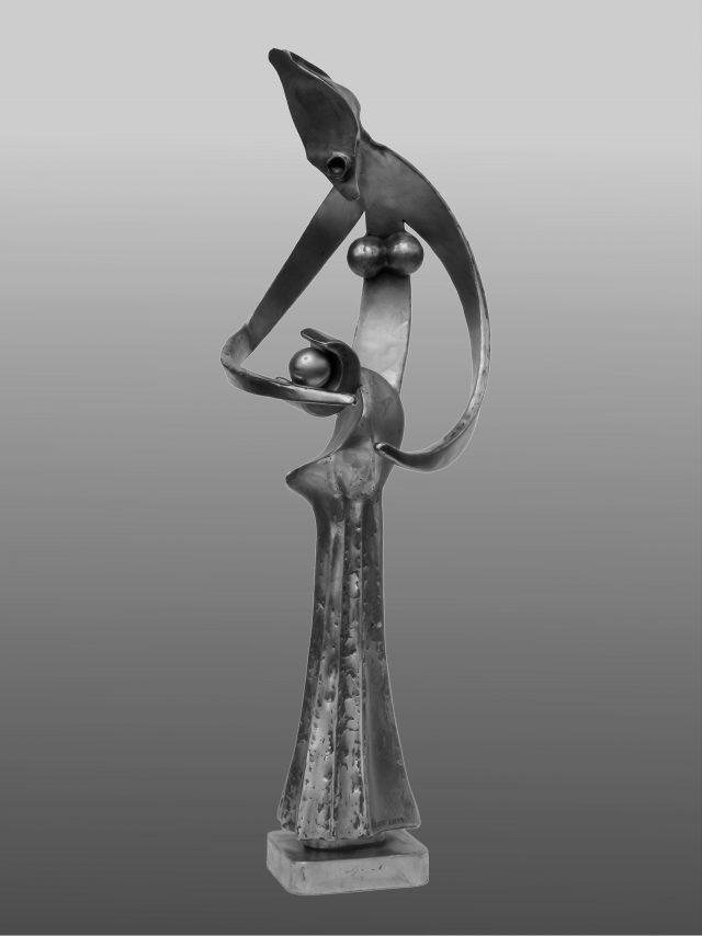 Maternité - Sculpture en acier - 76x26cm