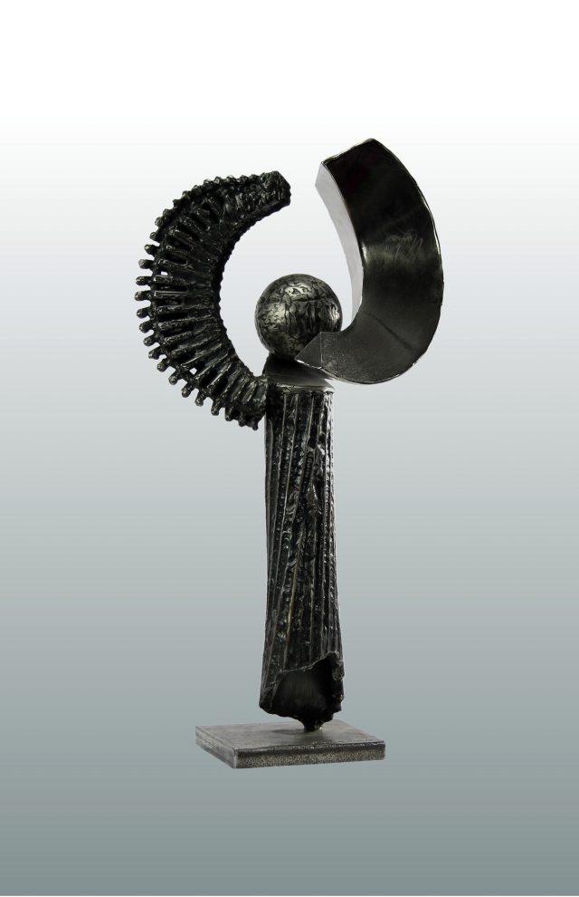 L'ange - Sculpture en acier - 51x27cm