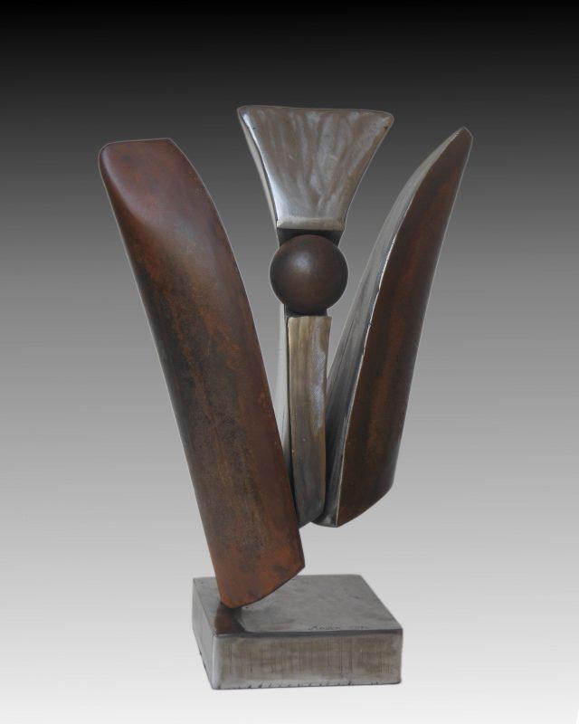 Emergence - Sculpture en acier - 36x24 cm